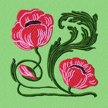 4-Hobby.com - Machine Embroidery Designs  Flowers  Art Nouveau 12 Machine Embroidery Designs ...