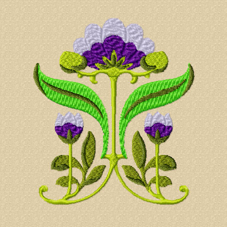 4 Hobby Com Machine Embroidery Designs Flowers Art