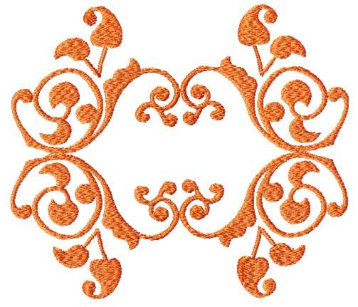Autumn leaves ornaments border corner embroidery design ebay