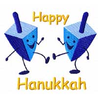 Dancing Hanukkah (Chanukkah) 20 Machine Embroidery Designs set