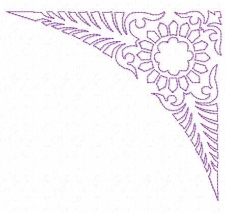 Classic border corner frame machine embroidery designs ebay for Classic border design