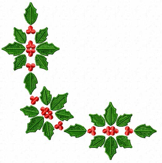 Christmas MotifsPoinsettia Machine Embroidery Designs