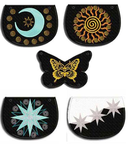 Elegant Girly Bags 5 Machine Embroidery Design 5x7 hoop