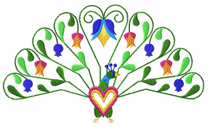 4 Hobby Machine Embroidery Designs Hearts Birds Hearts