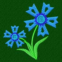Free Cornflower Machine Embroidery design