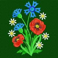 Cornflowers 14 Machine Embroidery Designs set