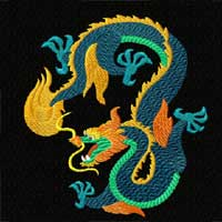 Chinese Dragon Machine Embroidery Design