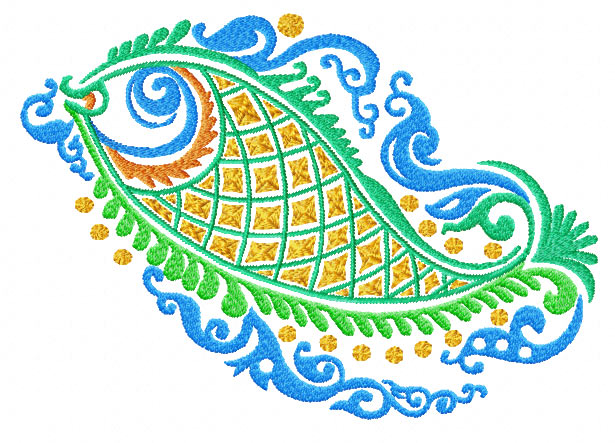 4 Hobby Machine Embroidery Designs Fish Ethnic Fish