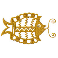 Ethnic Fish Machine Embroidery Design