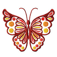 Fantasy Butterflies 10 Machine Embroidery Designs and Applique set 4x4