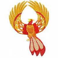 Feng Shui Machine Embroidery Design Set: Fenix (Phoenix) - 9 (18) designs