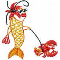 Funky Fish 12 Machine Embroidery Designs set 5x7