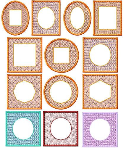 Frames 10 Machine Embroidery Designs set 4x4