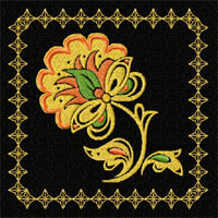 Garden of Eden 12 Quilt Block Machine Embroidery Designs set 5x7