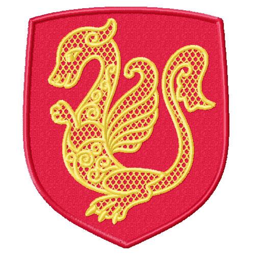 Dragon Applique Designs Dragon Heraldic Applique