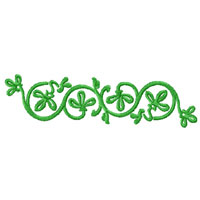 Green Ornaments Machine Embroidery Designs