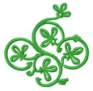 Green Ornaments Machine Embroidery Designs set 5x7