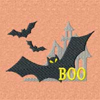 Boo Halloween Machine Embroidery Design