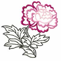 Chinese Peony Flowers 14 Machine embroidery designs set