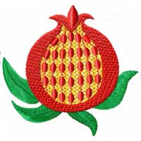 Free Pomegranate Machine Embroidery Design