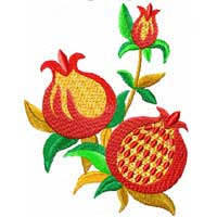 Pomegranates 11 Machine Embroidery Designs set