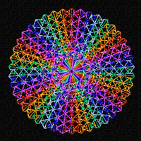 Rainbow Circles 12 Machine Embroidery Designs set 4x4
