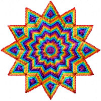 Rainbow Stars Machine Embroidery Designs set 4x4