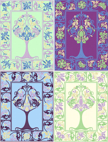 Renaissance: 4 Seasons Trees - 84 Quilt Blocks Machine Embroidery Designs