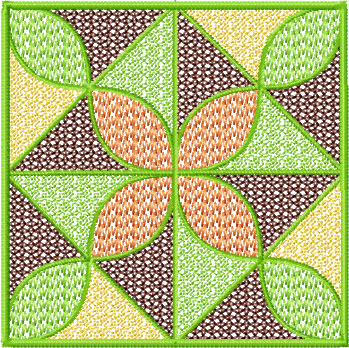 Embroidery Patterns For Quilt Squares : Set #3 Square Quilt Blocks Machine Embroidery Designs