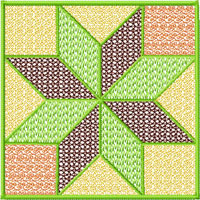 Square Quilt Blocks 12 Machine Embroidery Designs 4x4