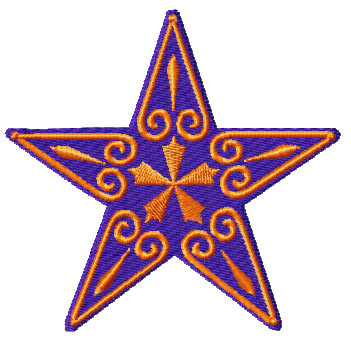 Embroidery designs stars for Space embroidery patterns