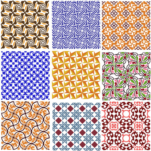 Tiles - 9 Square Quilt Blocks Machine Embroidery Designs set for 4x4 hoop