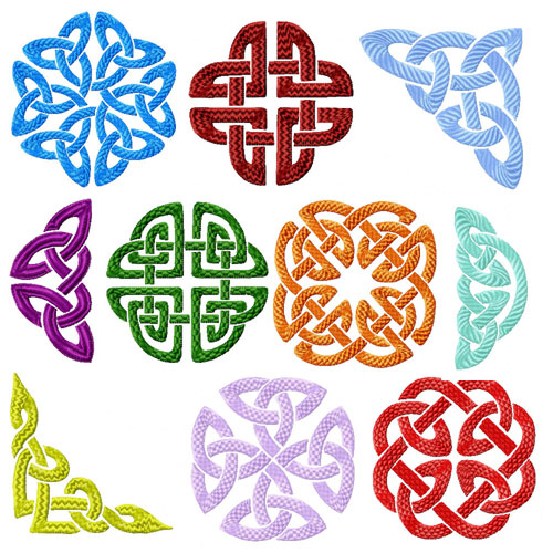 Celtic Ornaments Machine Embroidery Designs set 4x4