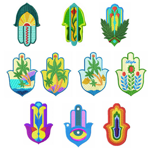 Hamsa 10 Machine embroidery designs set 4x4