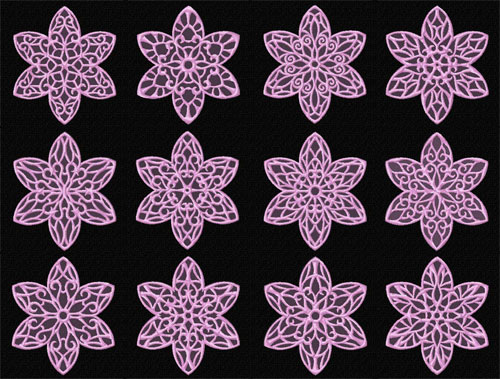 Lacy Flowers 12 Machine Embroidery Designs set 4x4