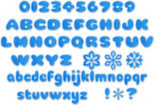 Snowflakes Alphabet Font Machine Embroidery Designs