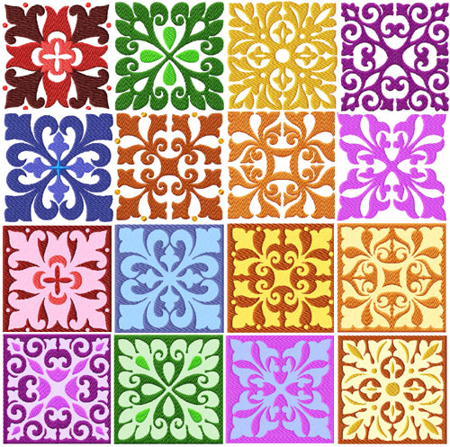 Square Quilt Blocks 16 Machine Embroidery Designs