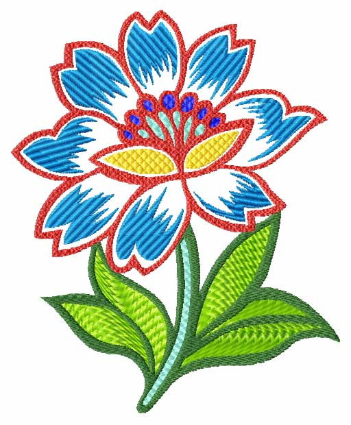 Hobby machine embroidery designs flowers