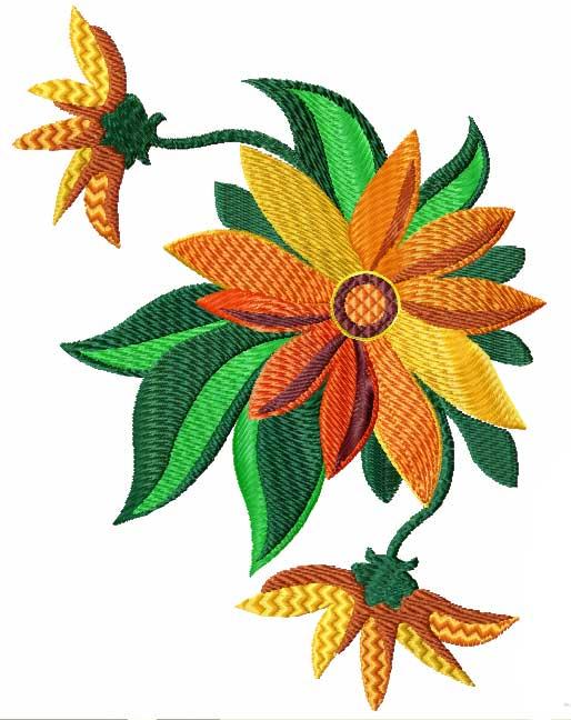 Summer flowers machine embroidery designs set ebay