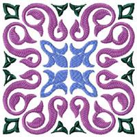Tiles - 12 Square Quilt Blocks Machine Embroidery Designs 5x5