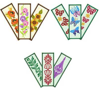 Bookmarks and glasscases Embroidery Designs