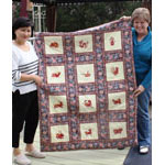 A New Years Quilt with Chinese Zodiac