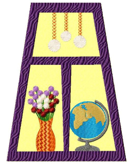 Windows quilt blocks applique machine embroidery designs