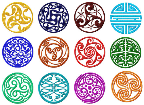 Celtic Circle Motifs/Blocks Machine Embroidery Designs 4x4