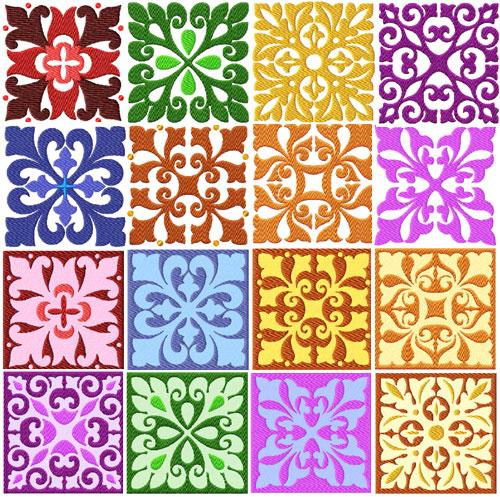Square Quilt Blocks 16 Machine Embroidery Designs
